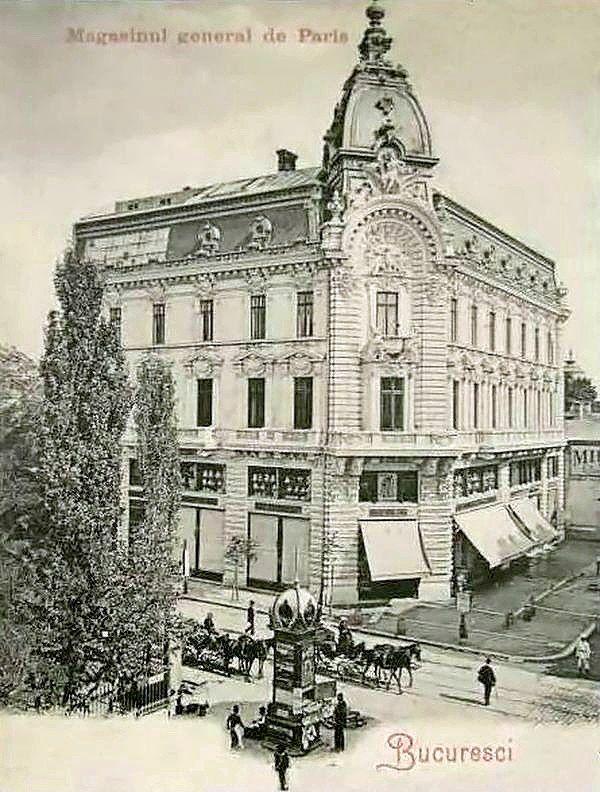 Magazinul general de Paris, pe locul restaurantului Trattoria Il calcio, fost Cina. A fost extins ulterior cu corpuri de cladire adapostind Jockey Club, Academia Comerciala s. a. A fost demolat la sistematizarea Pietei de la finele anilor '30