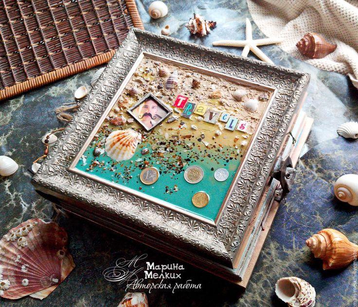 Купить Фотоальбом о путешествиях - фотоальбом ручной работы, фотоальбом в подарок, альбом для фото