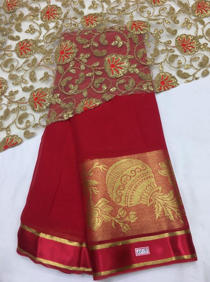 Exclusive Pure georgette sarees at elegantfashionwear.com
