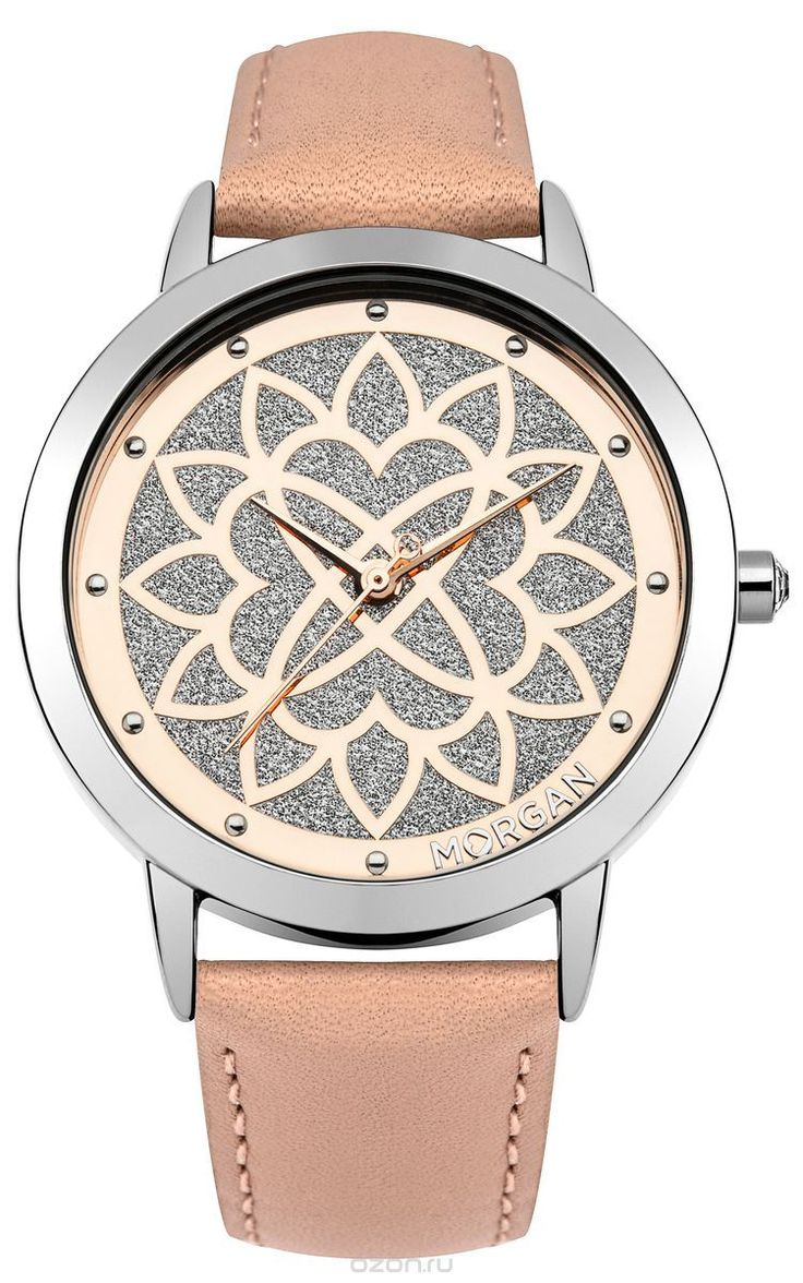 Наручные часы женские Morgan, цвет: серый металлик, розовый. M1247P