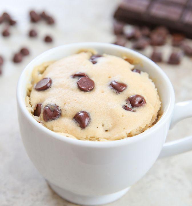 Chocolate Chip Mug Cake   Kirbie's Cravings   A San Diego food & travel blog