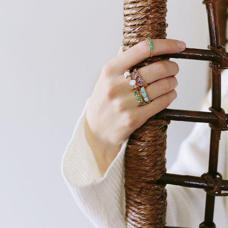 raw emerald ring / emerald ring / natural emerald ring / emerald stacking ring / may birthstone / dainty emerald ring / rough emerald by DANIBARBEshop on Etsy https://www.etsy.com/au/listing/513095545/raw-emerald-ring-emerald-ring-natural