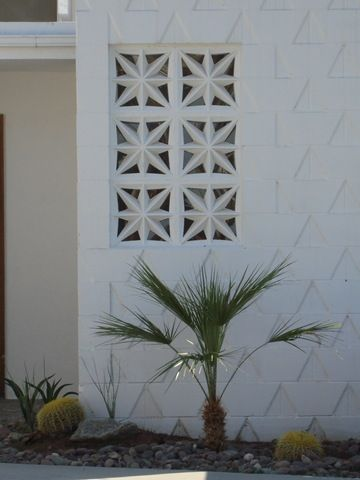 Between stairwell and living area... let pretty light in. Different breeze block pattern.