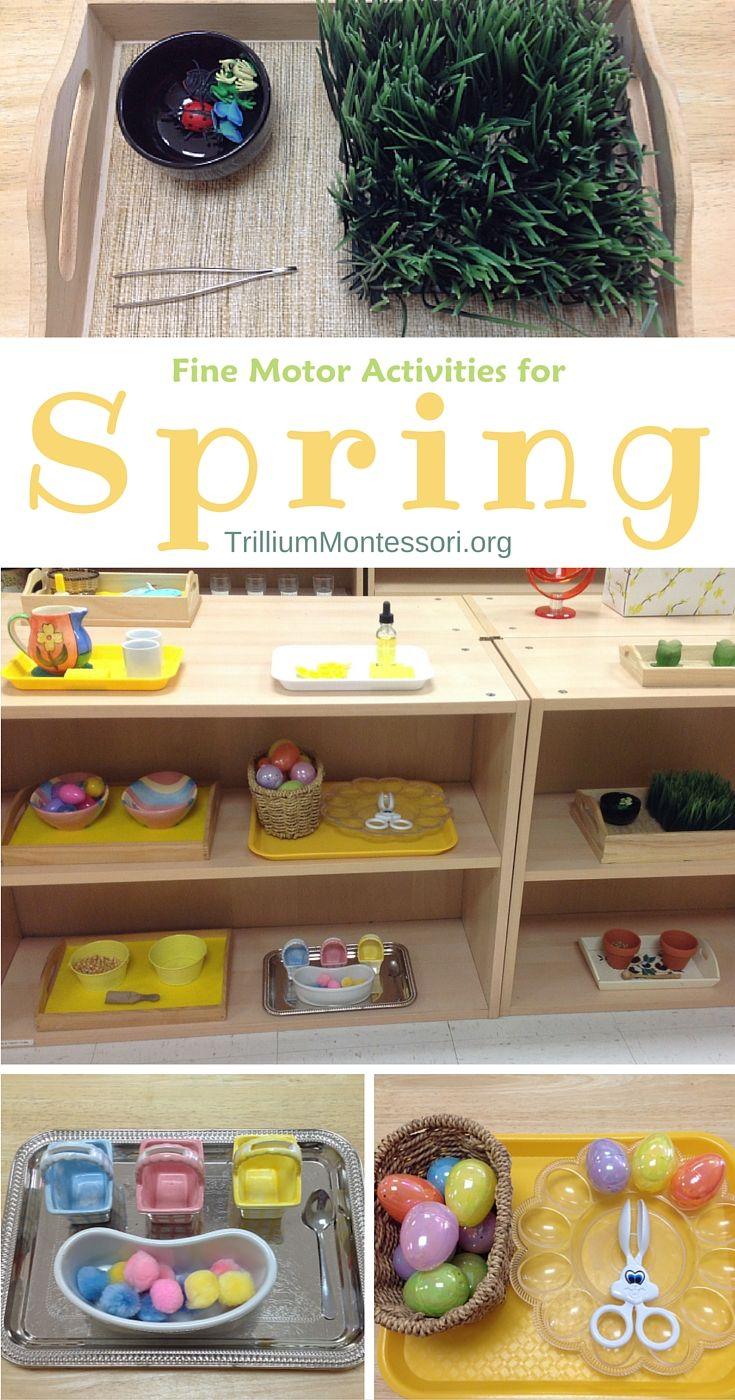 Montessori Fine Motor Activities for Spring