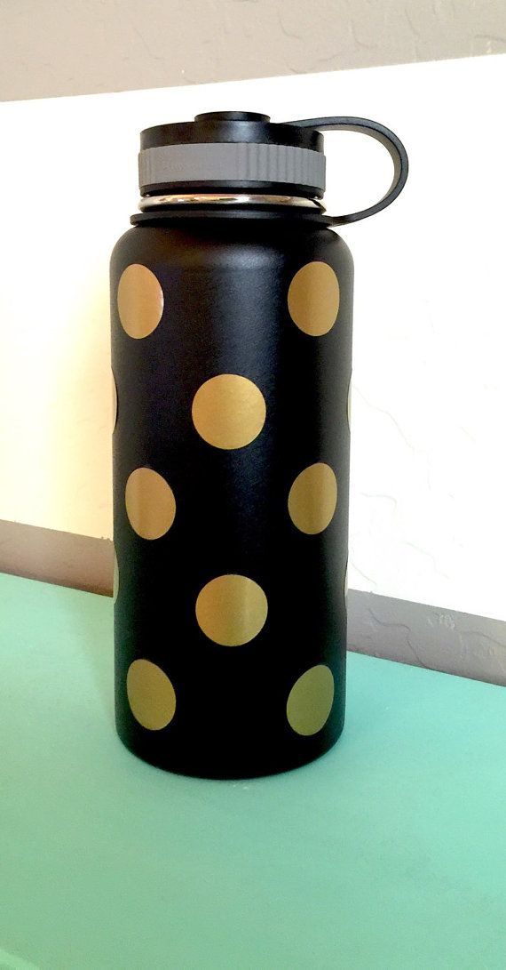 Polka dot hydro flask decal stickers by happytuesdaysigns on etsy