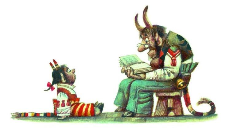 Storytime with dad, by Franta Karel