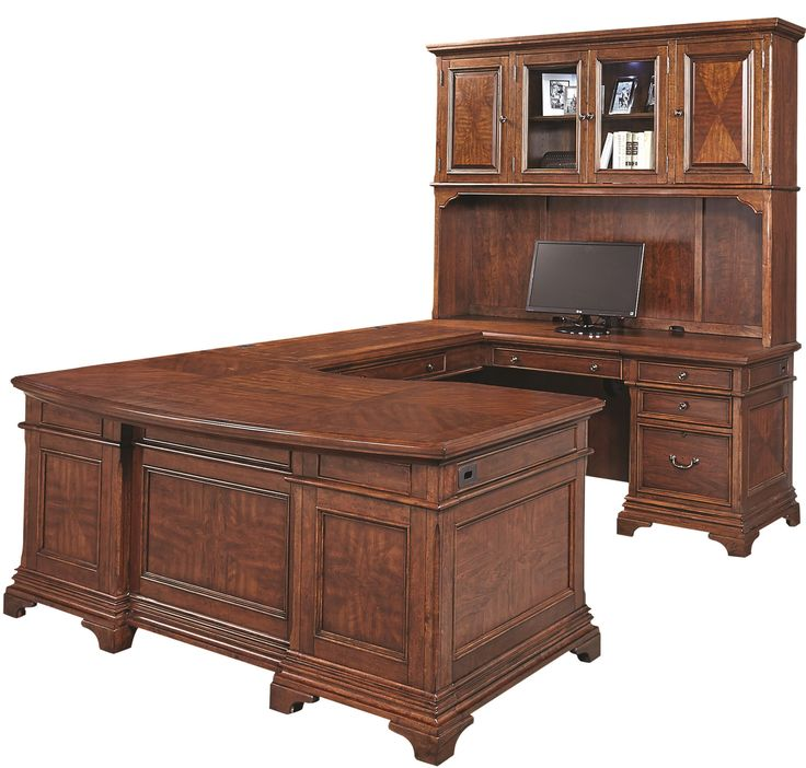 Hawthorne Right Facing Executive U Desk With Hutch By Aspenhome