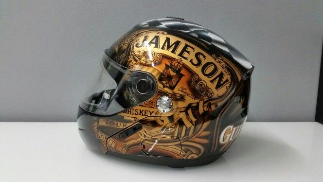 Jameson helmet airbrush by Orzech Custom Paint