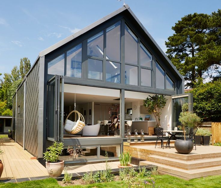 A Small Home In The UK That Is Designed To Float Upwards In The Event Of A Flood