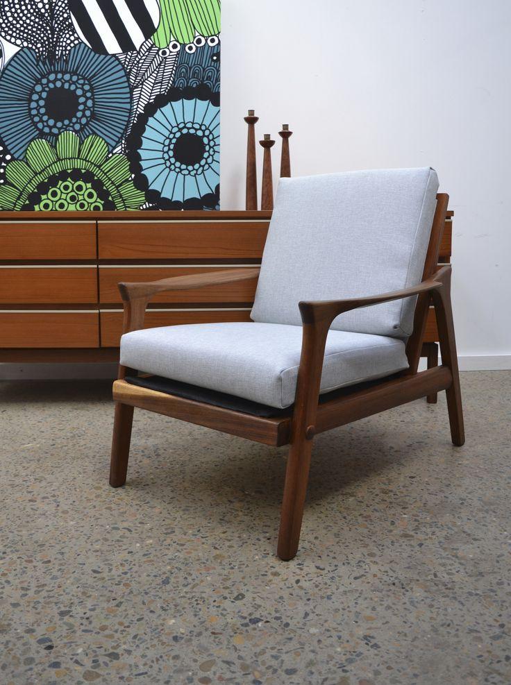 Australian designed armchair by Danish Deluxe, reupholstered by tangerine & teal vintage. www.tangerineandteal.com