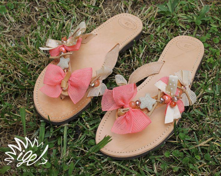 "Handmade Leather Sandals ""Starfish"""