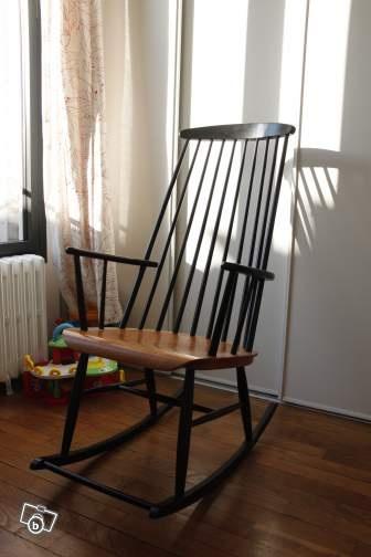 rocking chair tapiovaara designer scandinave sur le bon coin