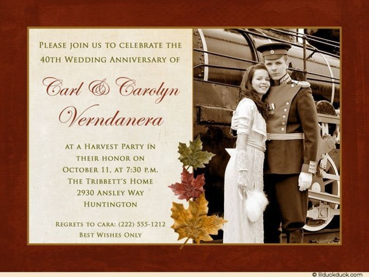 Wedding Invitation No Gifts: 28 Best Anniversary Invitations Images On Pinterest