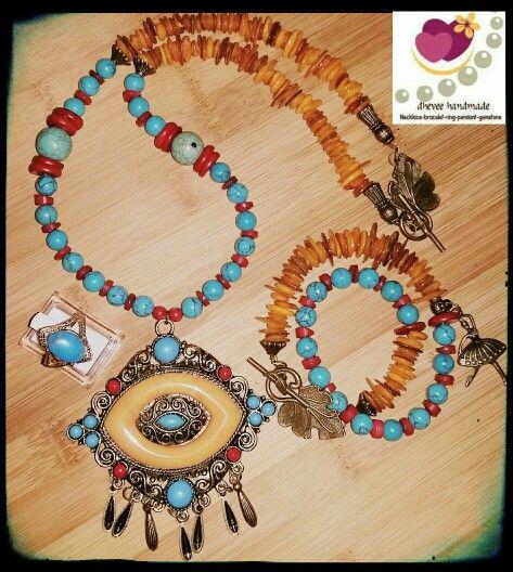 #kalung #batu #handmade #aksesoris #dheveehandamde on www.bukalapak.com/koleksiaksesoris