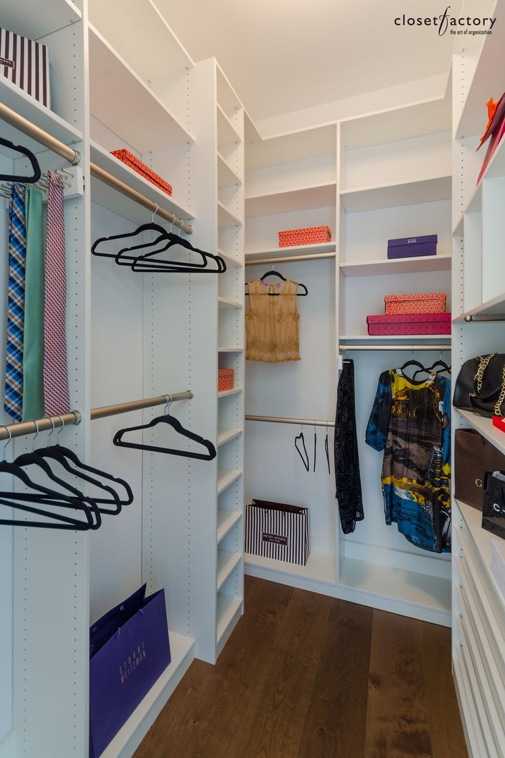 A Small, But Highly Functional Dressing Room, Equipped With Stained  Aluminum Hanging Rods,