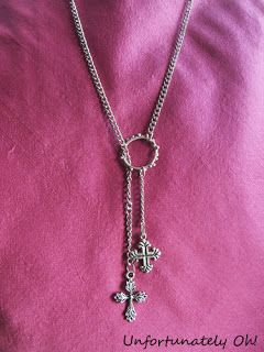 At home with Mrs H: Cross Charm necklace tutorial with Unfortunately Oh!