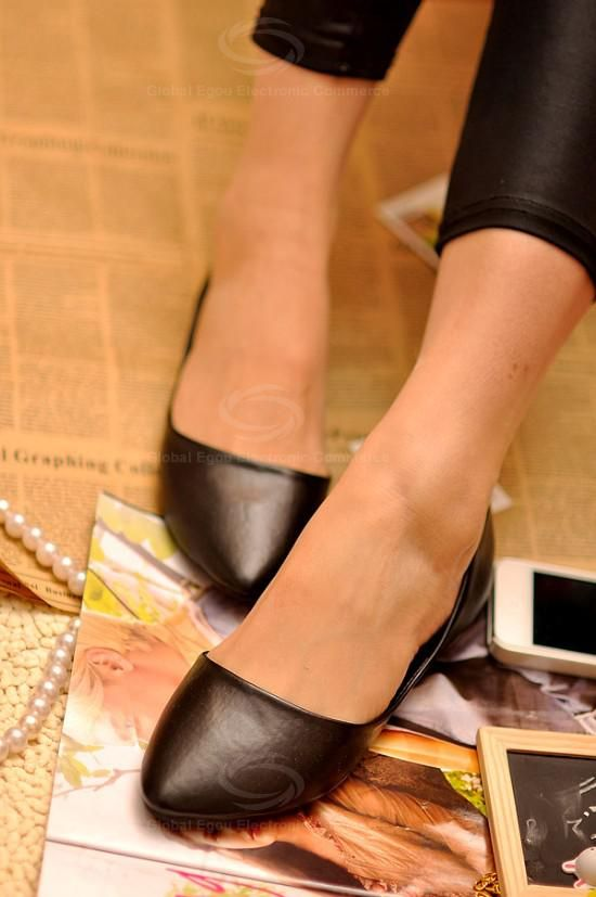 Casual Solid Color Pointed Head Design Soft Imitated Leather Women's Flat Shoes (BLACK,39) | Sammydress.com