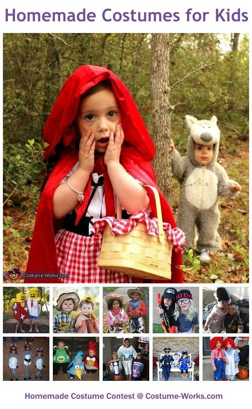 Homemade Costumes for Kids - a lot of DIY costume ideas!