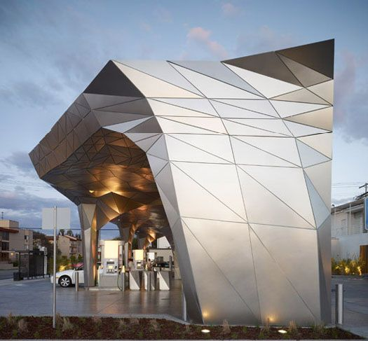 First LEED certified gas station - Helios House by Office dA #architecture