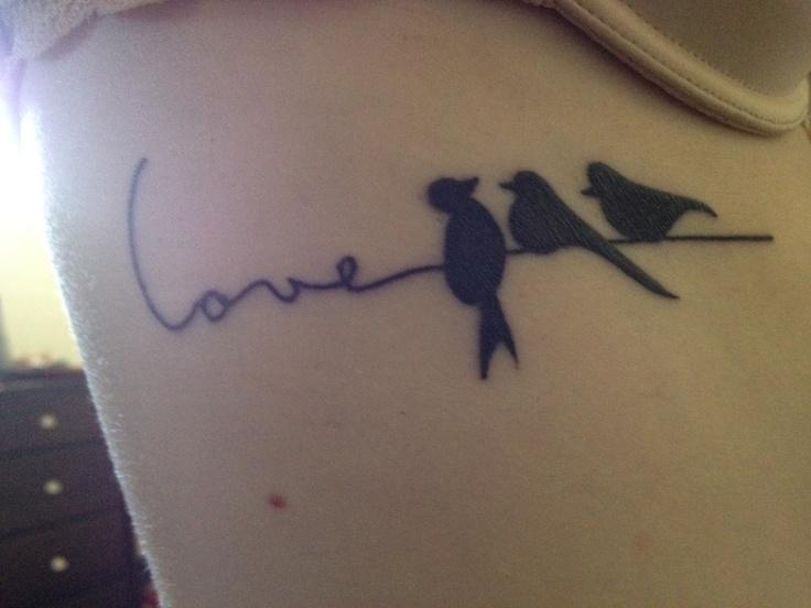 Tattoo on Right rib... love and my birds