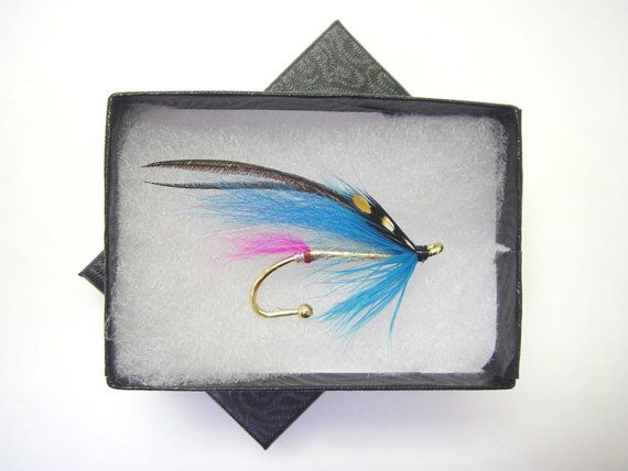 Salmon Fly Sillen Hat pin Lapel pin Brooch by Ayuflytyer on Etsy
