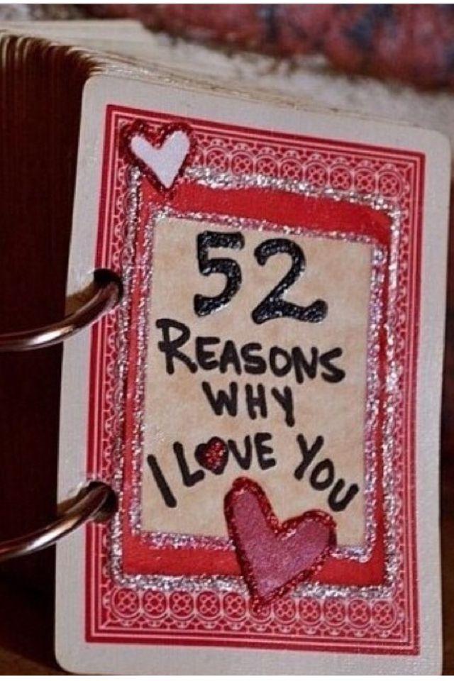 52 redenen waarom je van iemand houdt of waarom je diegene leuk vindt. Heel leuk om als cadeautje te geven! ❤️