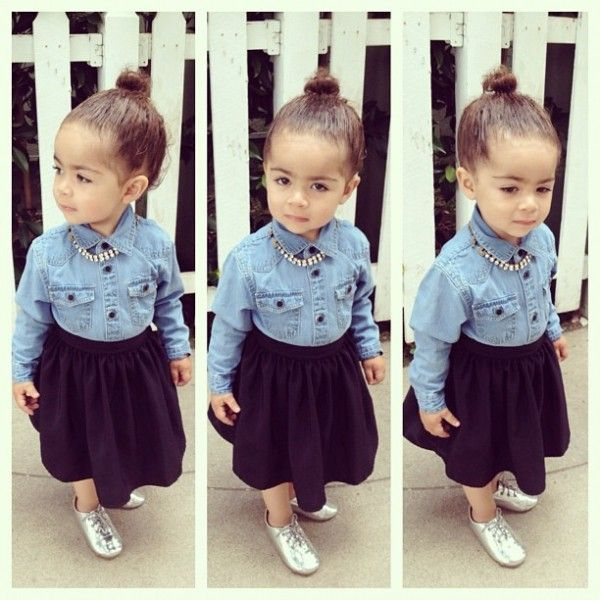 : Rose, Little Girls, Kids Fashion, Outfit, Denim Shirts, Children, Baby Girls, Kidsfashion, Stylish Kids