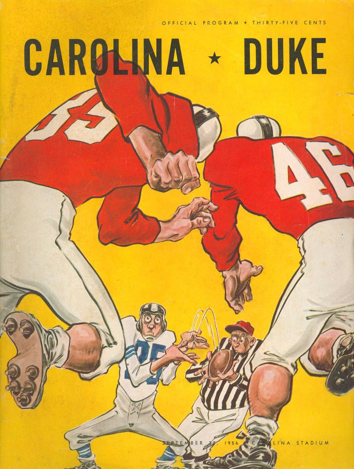 South Carolina vs. Duke (1956) in 2020 Football program