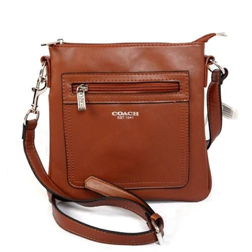 Coach Zip In Logo Small Brown Crossbody Bags CFP Outlet Online