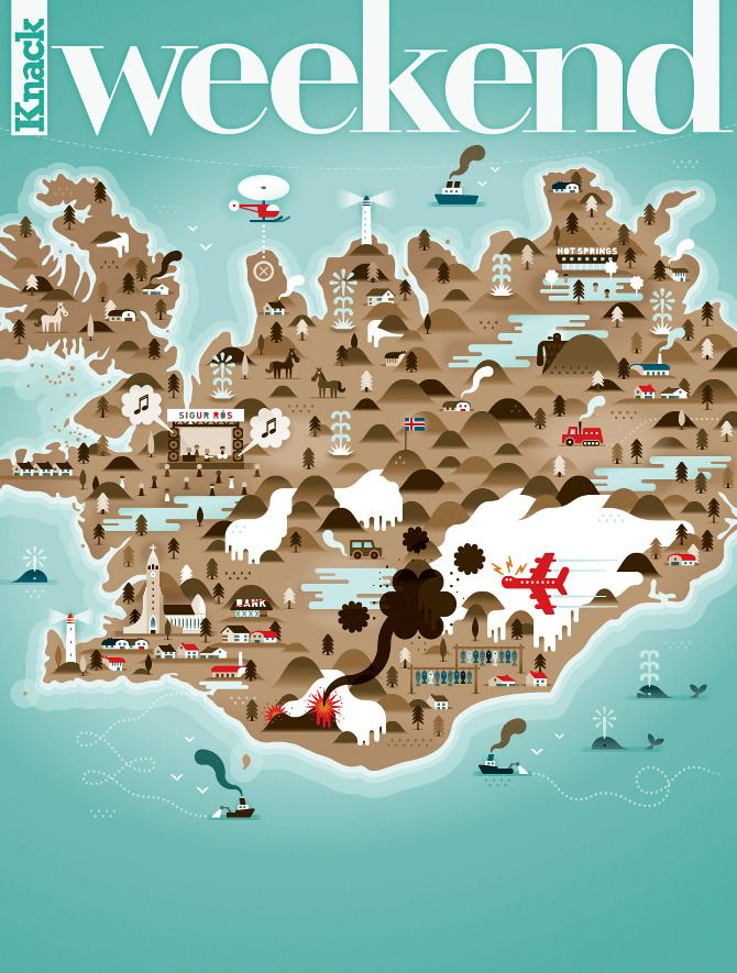 Weekend Knack Magazine Covers / Khuan + Ktron   Design Graphique