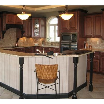 Classic Traditional Kitchen With Two Level Island By Designer Jamie  Thibeault Of Kitchen Views, Mansfield, MA
