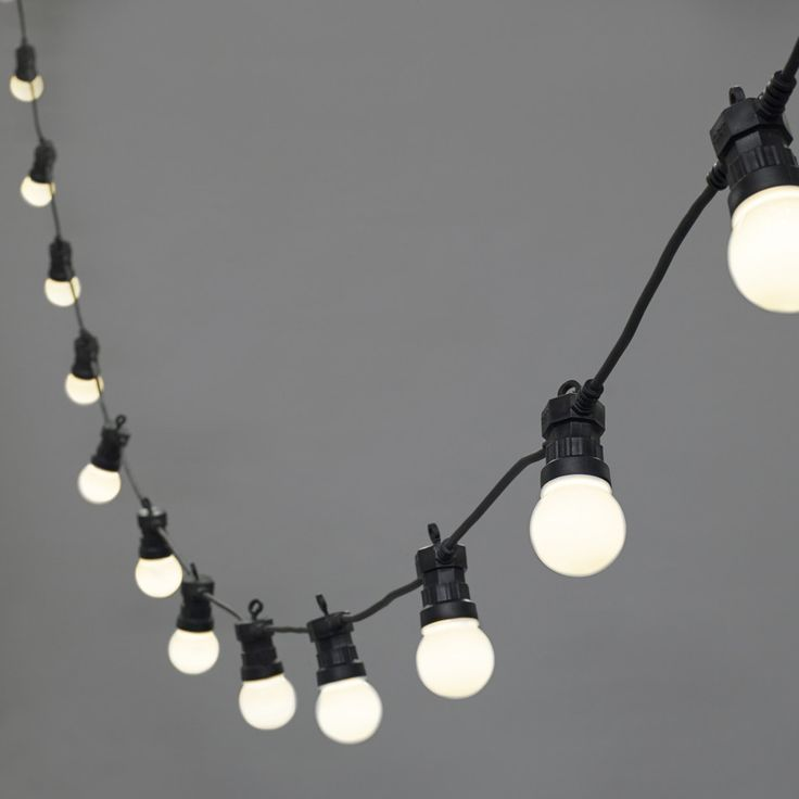 20 LED Warm White Connectable Festoon Lights, Type U