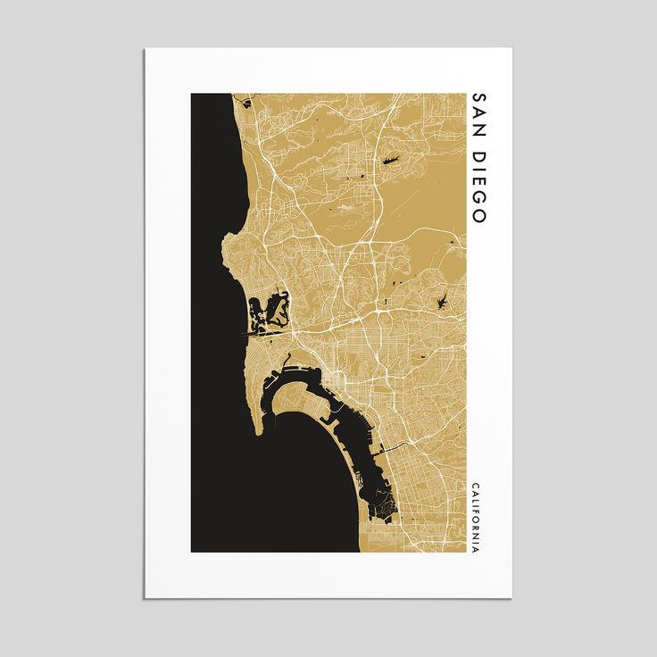California Map Disney%0A San Diego  California   City Map Print  Style
