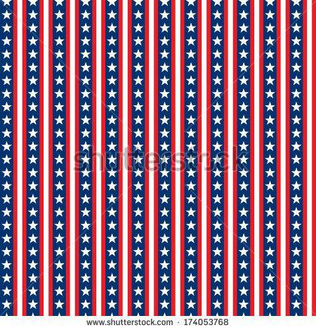 Seamless Stars & Stripes Pattern - stock photo