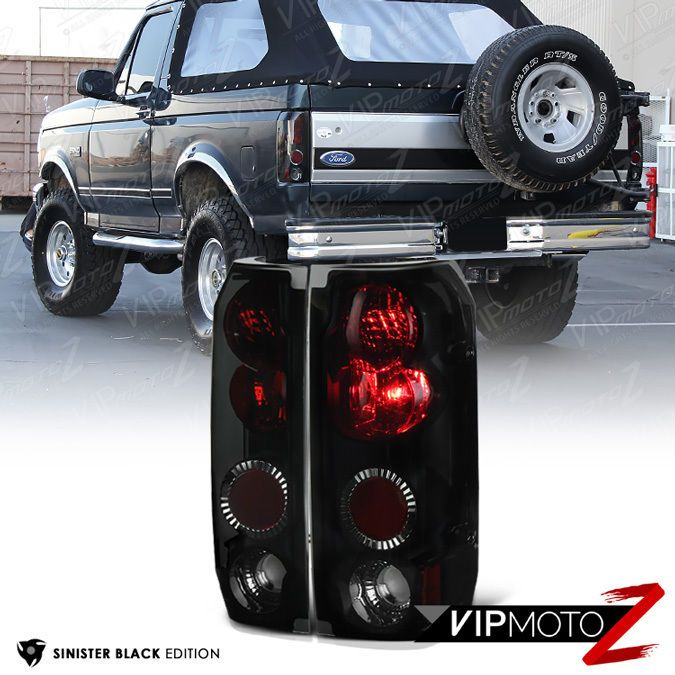 59731630acd1080aa1ef9d0dd6b9f79d ford bronco tail light sinister black} l r tail light lamp assembly ford 1989 1996 f150  at eliteediting.co