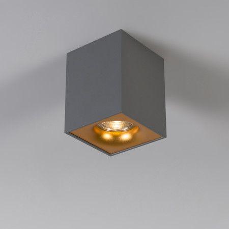 Spot Quba deluxe grau mit Gold  Für den Kenner bringen wir Ihnen, in einem #eleganten #Design, den #Spot #Quba #Deluxe. Durch die #schöne #Farbkombination schafft diese #Leuchte eine #angenehme, #elegante #Atmosphäre in Ihrem #Zuhause oder #Büro!