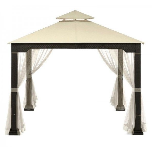 Designed to create an attractive seating environment, this gazebo can be used throughout the season to evoke tropical cabanas in your own yard, or erect it for a special occasion.  BOOK YOUR ==>> Stylish 10' x 10' Rattan Wicker Metal Patio Gazebo with Canopy and 4 sided Net ON PHONE  1 (888) 407-7909 OR (LINK IN BIO)