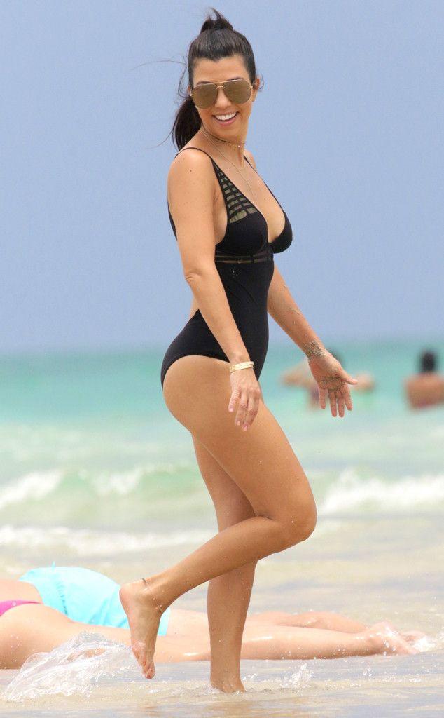 Kourtney Kardashian from Bikini Gallery  Kourtney takes Miami again! The E! star shows off her sexy swimsuit on the beach.