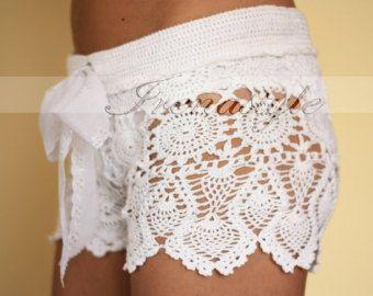 Shorts y top de ganchillo. Tapa del ganchillo. por Irenastyle