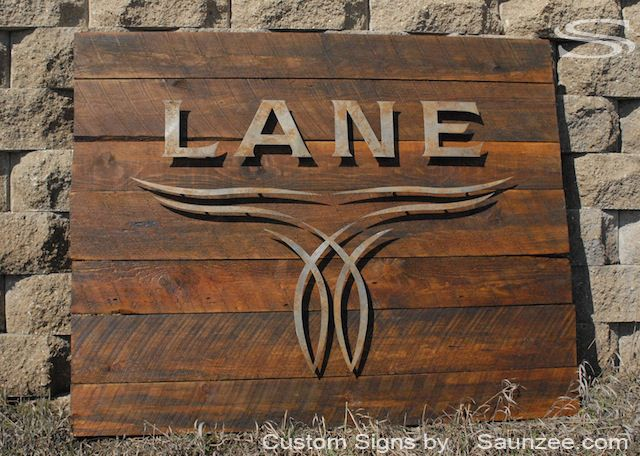 Saunzee Large 3d Rustic Rough Sawn Timber Wood Sign Offset