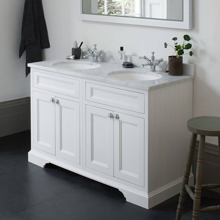 Find This Pin And More On Bathroom The Burlington Matt White Freestanding Double Vanity