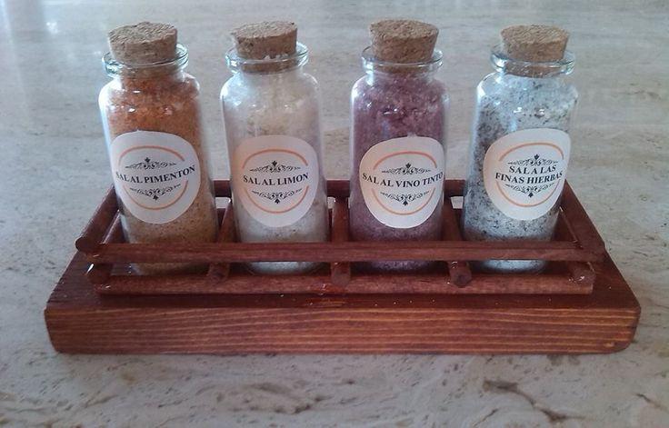 Sets de sales aromatizadas en formato tubo.