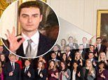 White House intern flashes 'white power' sign with Trump | Daily Mail Online