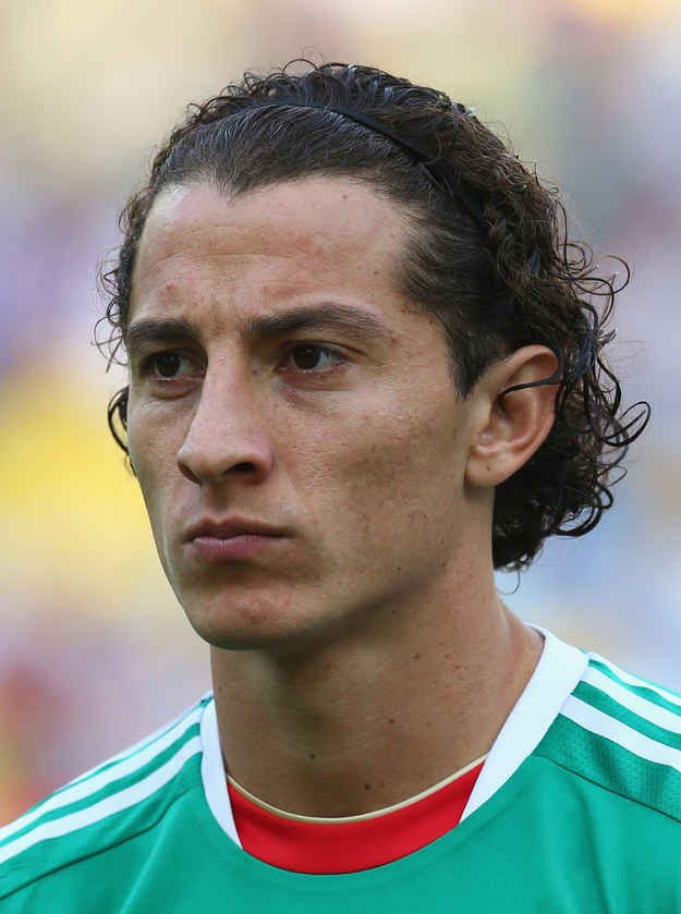 """Andrés Guardado of Mexico with the """"Julius Caesar."""" 