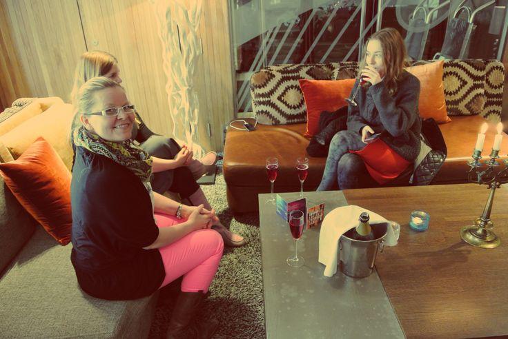 Tour stops at Hotel Klaus K living room #food tour #Helsinki #Finnish food #Scandinavia