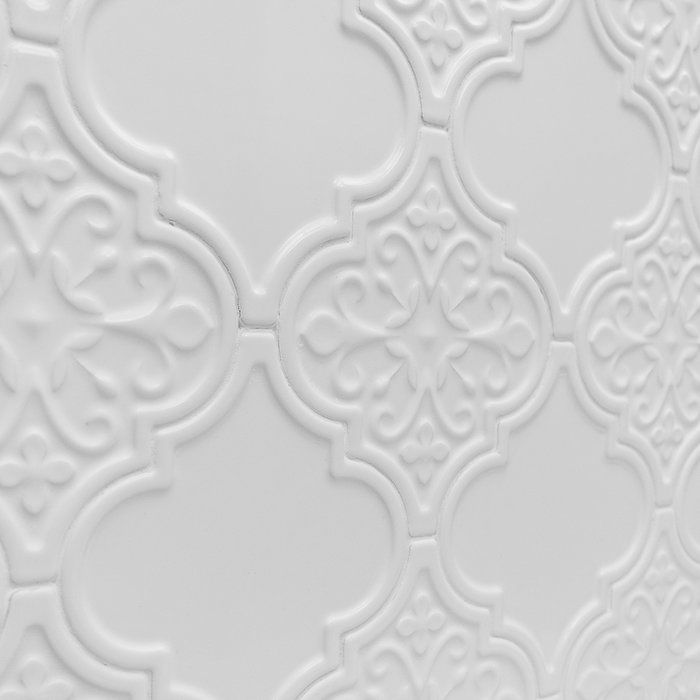 Ivy Hill Tile Vintage Florid Lantern White 6 1 4 In X 7 1 4 In X 8 Mm Ceramic Wall Mosaic Tile 30 Pieces 4 8 Sq Ft Box Ext3rd104636 The Home Depot Lantern