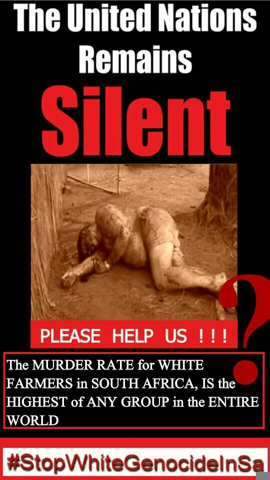 *****SHOCKING ARTICLES about the GENOCIDAL MURDERS ON WHITE PPL IN SOUTH AFRICA…