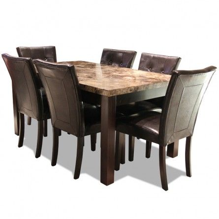 crown mark bruce expresso table set gallery furniture - Dining Room Sets Houston Texas