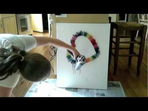 Melted Crayon Art...luv this!!!
