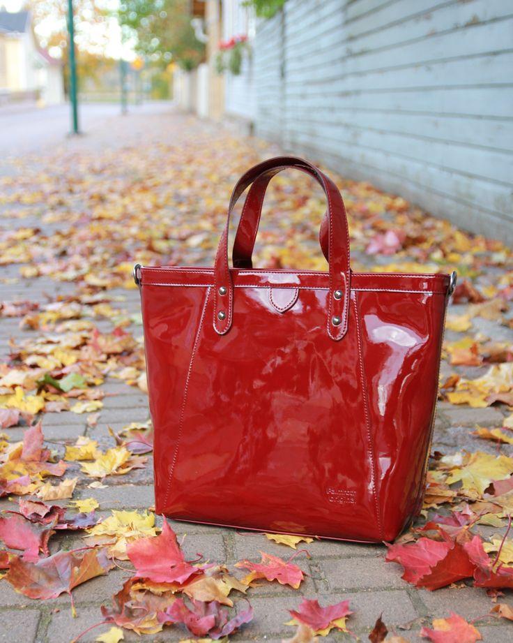 Palmroth Original bag chili red patent www.palmrothshop.com